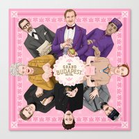 the grand budapest hotel Canvas Prints featuring The Grand Budapest Hotel by Kitty Rouge