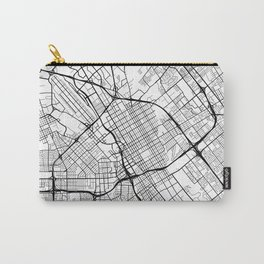 San Jose Map, USA - Black and White Carry-All Pouch