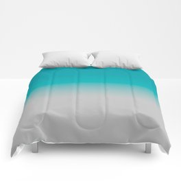 Gradient Teal Grey Comforters