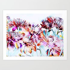 Mums the Word Art Print