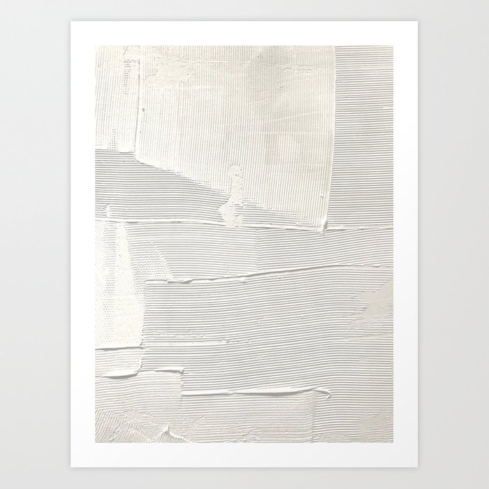Relief [1]: an abstract, textured piece in white by Alyssa Hamilton Art Art Print
