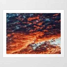 Wolken Paradies Art Print