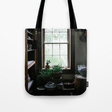 Vintage Pantry With Plants Tote Bag