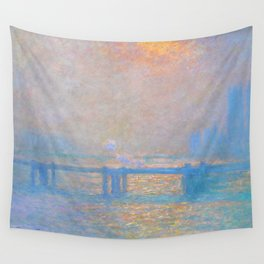 """Claude Monet """"Charing Cross Bridge, The Thames"""" (1903) Wall Tapestry"""