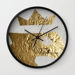 Gold Crown Wall Clock