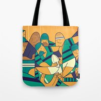rugby Tote Bags featuring Rugby 2 by Ale Giorgini
