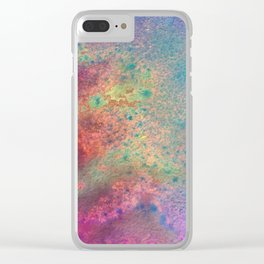 Painting Under UV Spectrum, Unique Blend Of Colors, Original Contemporary Artwork, Copper Clear iPhone Case