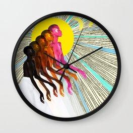 Sun and Rising Wall Clock