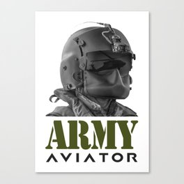 Army Aviator Military Pilot Canvas Print