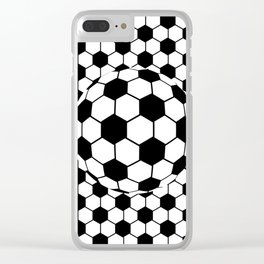 Black and White 3D Ball pattern deign Clear iPhone Case