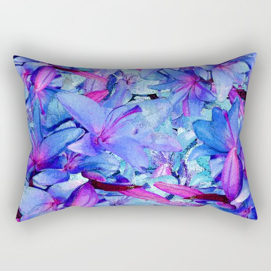 LILY BLUE BOUNTIFUL Rectangular Pillow