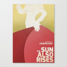 The sun also rises, Fiesta, Ernest Hemingway, classic book cover Canvas Print