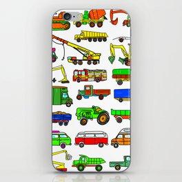 Doodle Trucks Vans and Vehicles iPhone Skin