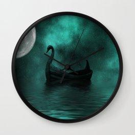 Solar Swan Wall Clock