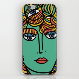 The Empress Pop Art Cubism Tarot Card by Emmanuel Signorino iPhone Skin