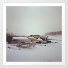 Canaan Valley, Winter Art Print