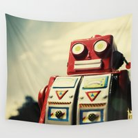 robot Wall Tapestries featuring Robot by Shannon Betz