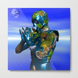 World Pollution Metal Print