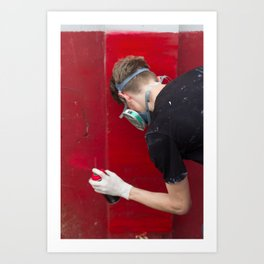 Red Graffiti Art Print