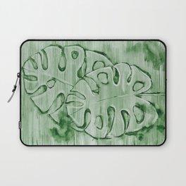 Monstera Leaves Green 2 Laptop Sleeve