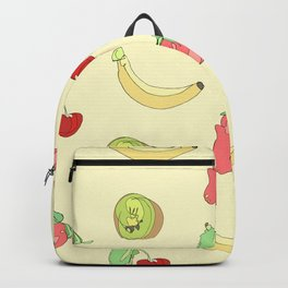 Yellow Fruit Pattern Backpack