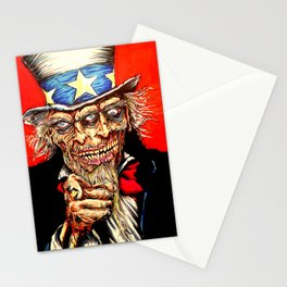 Uncle Zombie Sam Stationery Cards