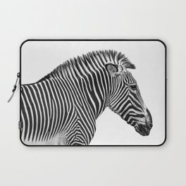 Animal Photography | Zebra | Minimalism | Wildlife Art | Black and White Laptop Sleeve