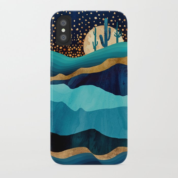 indigo desert night iphone case