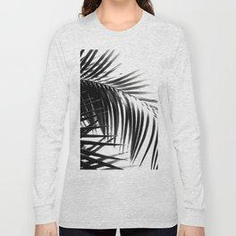 Palm Leaves Black & White Vibes #3 #tropical #decor #art #society6 Long Sleeve T-shirt