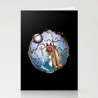 princess mononoke Stationery Cards featuring Princess Mononoke by Jena Sinclair