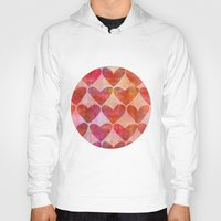hearts Hoodies featuring Hearts by LebensARTdesign