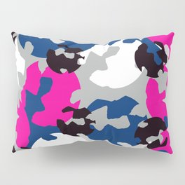 Pink and blue camouflage Pillow Sham