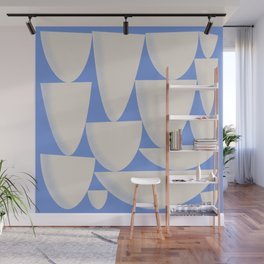 Blue & Cream Pattern Wall Mural