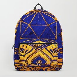 """""""Cosahedron, sacred geometry""""  WATERCOLOR MANDALA (HAND PAINTED) BY ILSE QUEZADA Backpack"""