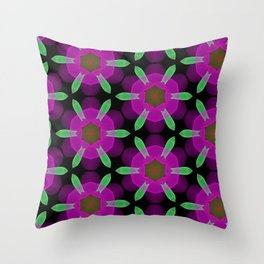 Abstract Spawning Green Fish Geometric Pattern Throw Pillow