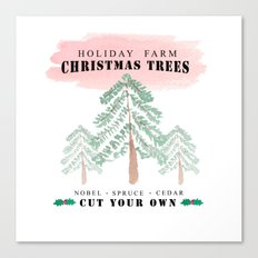 Christmas Tree Farm-red Canvas Print