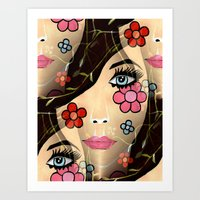 blossom Art Prints featuring Blossom by Sartoris ART