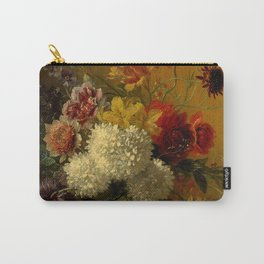 "George Jacobus Johannes van Os ""Still Life with Flowers"" Carry-All Pouch"