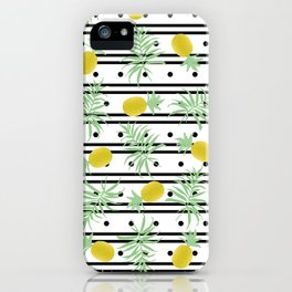 Pineapples and Palms iPhone Case