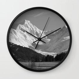 Alaskan Mts. ~ Mono II Wall Clock