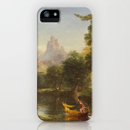 Thomas Cole The Voyage Of Life Youth 1842 iPhone Case