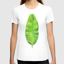 Banana Leaf Watercolor Painting T-shirt
