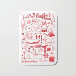 New Bedford Massachusetts Print Bath Mat