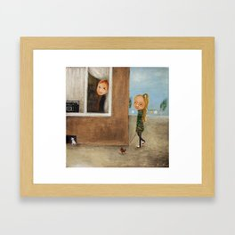 Love In The Rhythm Of The Radio Framed Art Print