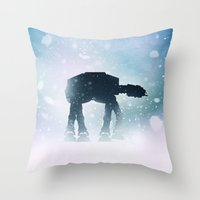 kieren walker Throw Pillows featuring Walker by Bakus