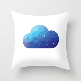 Cloud Of Data Throw Pillow