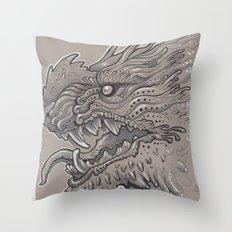 Spikey Monster Throw Pillow