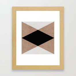 natural, cream and black triangles Framed Art Print