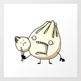 Dumpling Eater Art Print