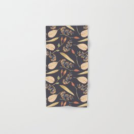Rustic gray brown Autumn colors floral Hand & Bath Towel